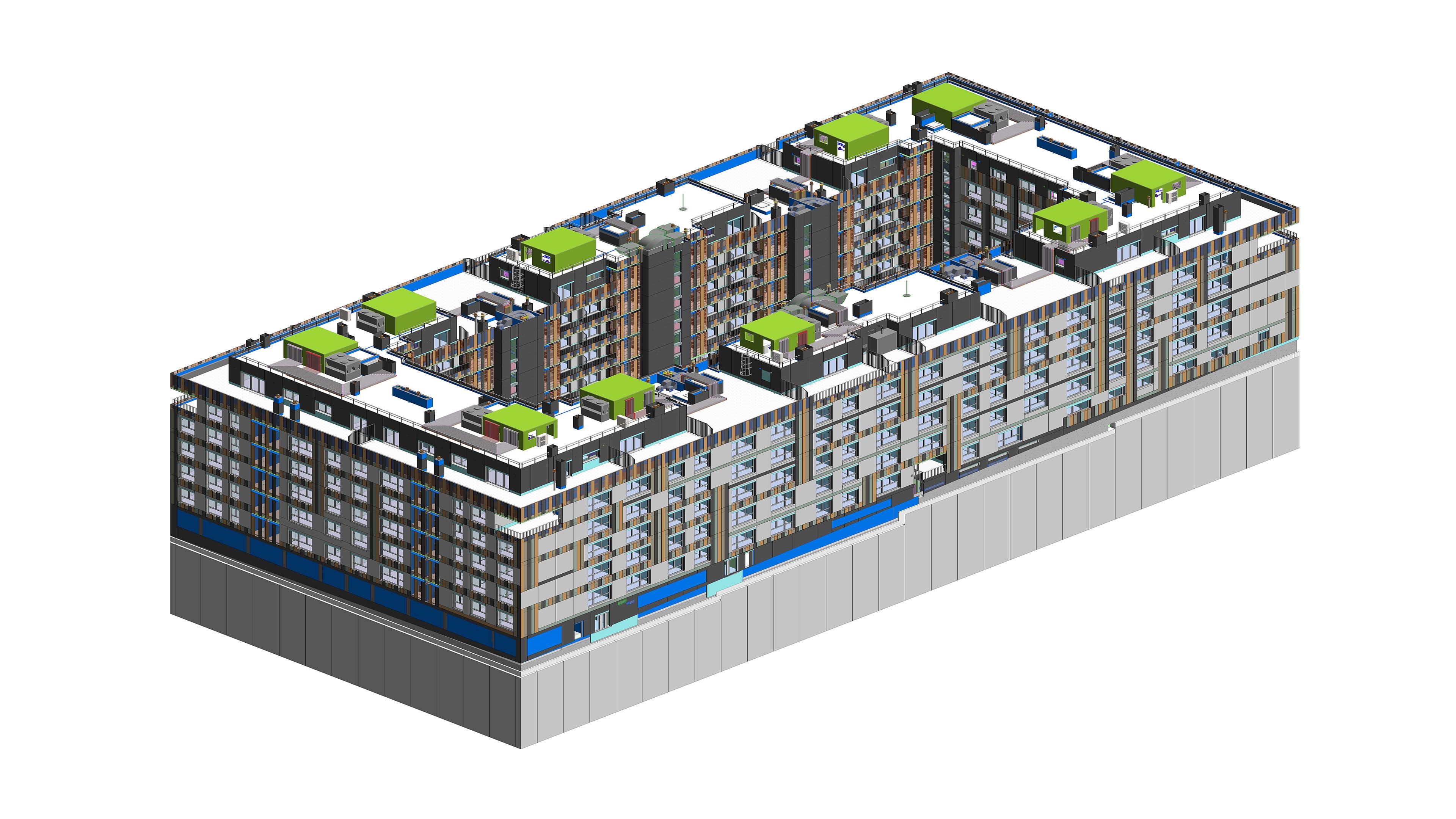 Edificio 128 viviendas en Madrid